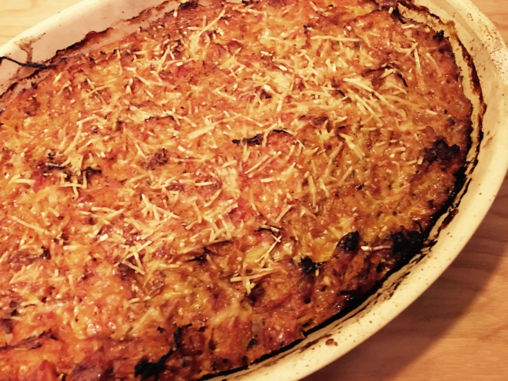 Baked Spaghetti Squash Pie | Cookbooks and a Suitcase